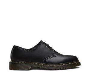 На фото туфли Dr.Martens 1461 Vegan Black Felix Rub Off