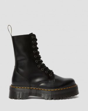 На фото актуальная модель 2019 года: Dr. Martens Jadon Hi - Black Polished Smooth